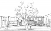 The Ballard House Architectural Sketch (Front View) by Barrett Architecture