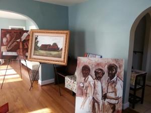 The work of Alabama artist Art Bacon at The Ballard House.