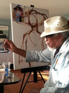 "Art Bacon, guest presenter at Experience@The Ballard House ""Techniques of African-American Artists,"" 2014 and 2015"